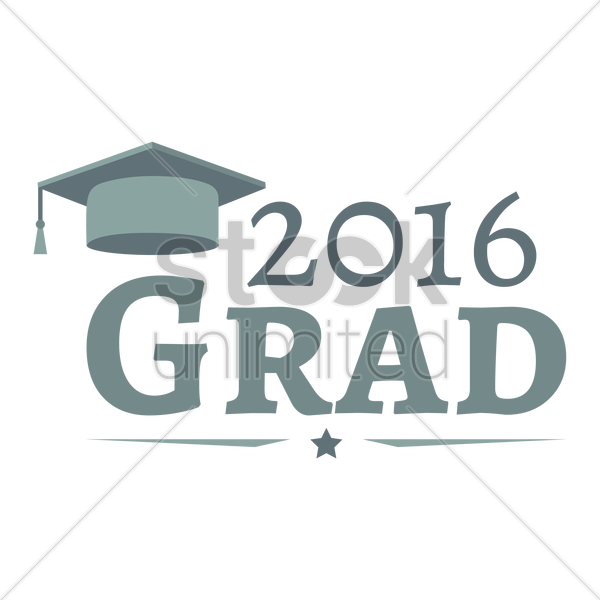 2016 grad vector graphic