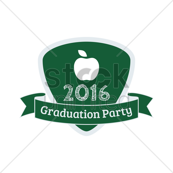 2016 graduation party vector graphic