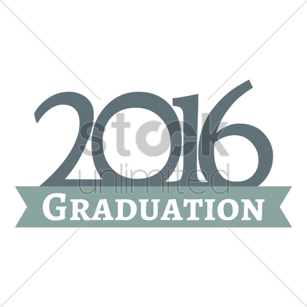 2016 graduation vector graphic