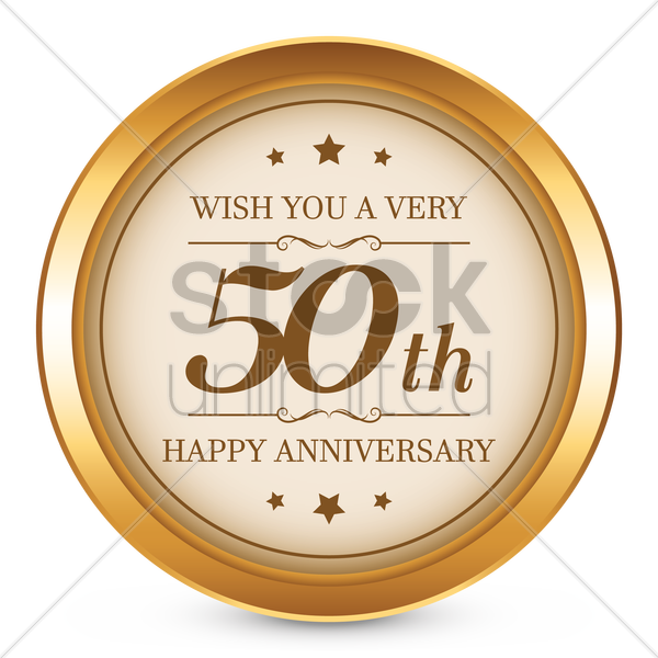 50th anniversary vector graphic
