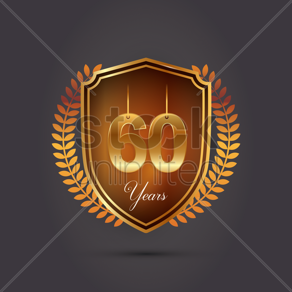 60 years emblem vector graphic