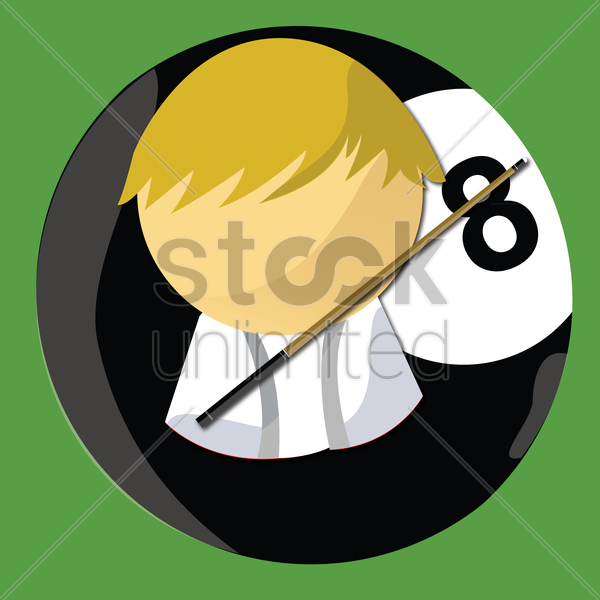 8 ball pool player vector graphic