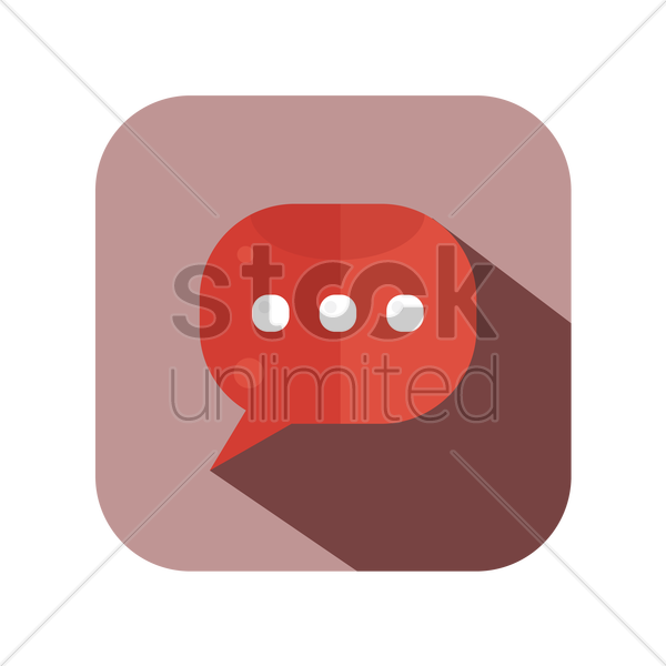a chat icon vector graphic