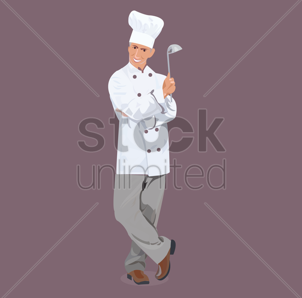 a chef vector graphic