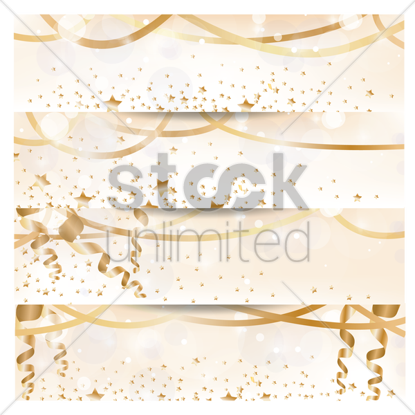 a collection of party banners vector graphic