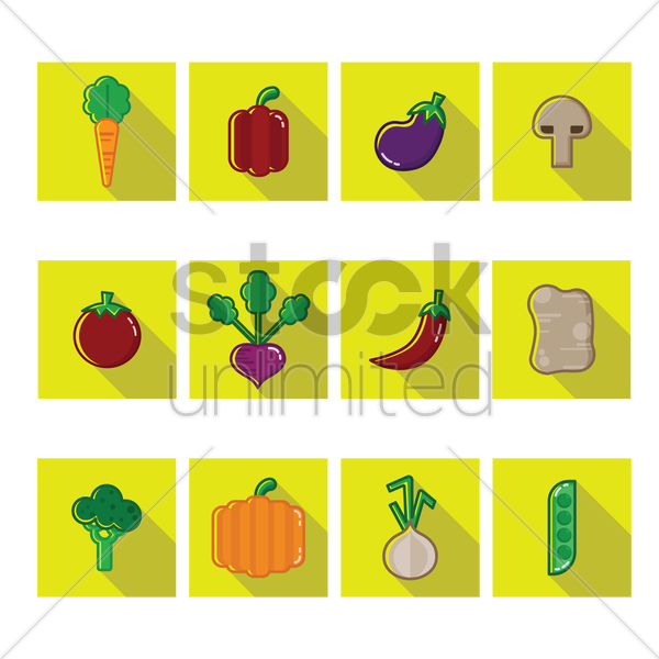 Free a collection of vegetables vector graphic