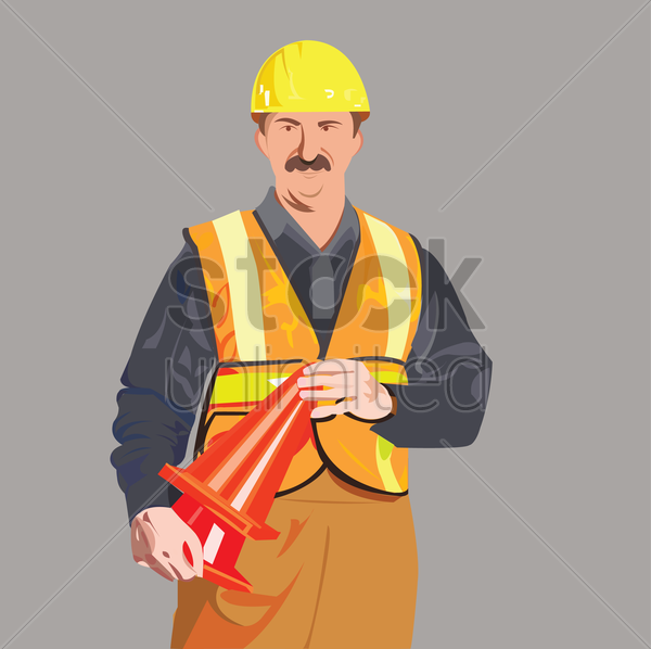 Free a construction worker vector graphic