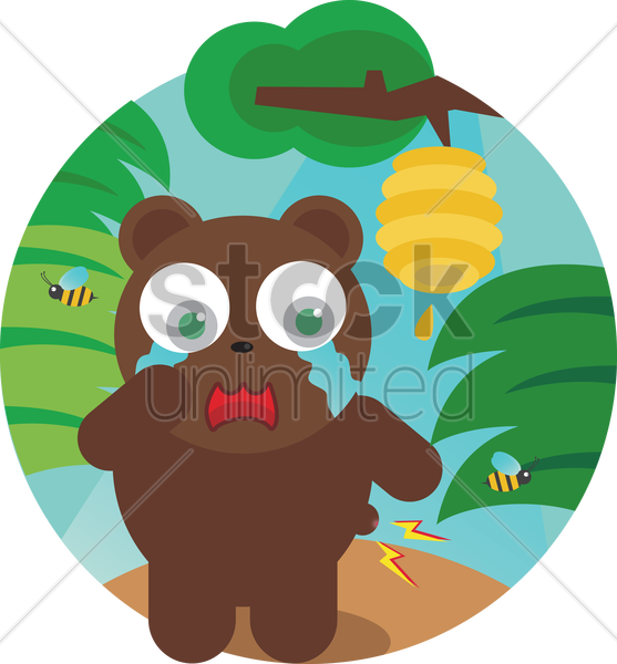 Free a crying bear vector graphic