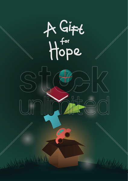 a gift for hope poster vector graphic