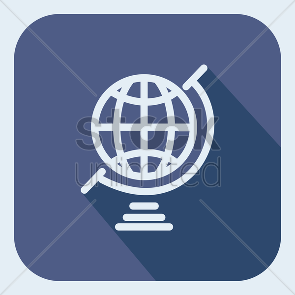 a globe vector graphic
