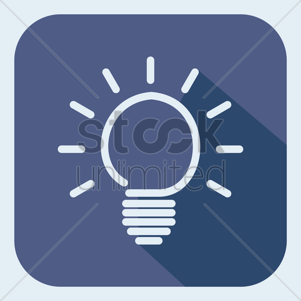 a glowing bulb vector graphic