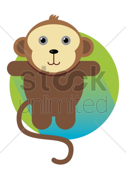 a monkey vector graphic