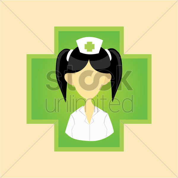 Free a nurse on a cross vector graphic
