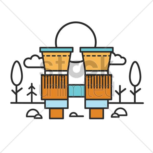 a pair of binoculars vector graphic
