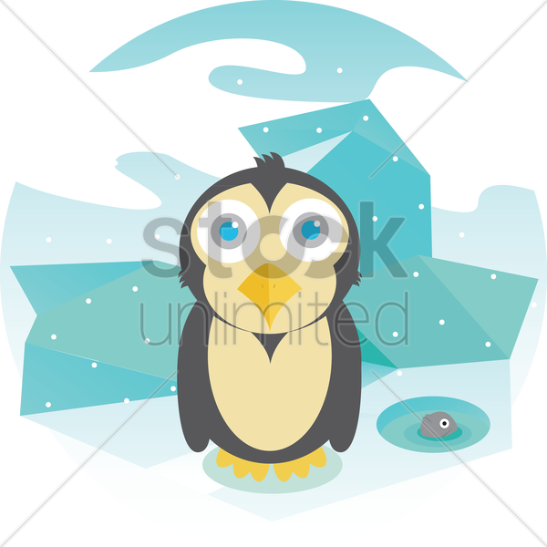 Free a penguin vector graphic