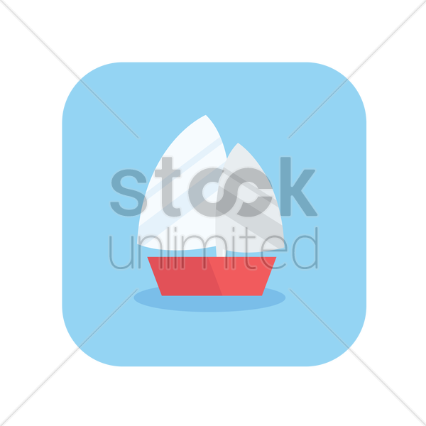 a sail boat vector graphic