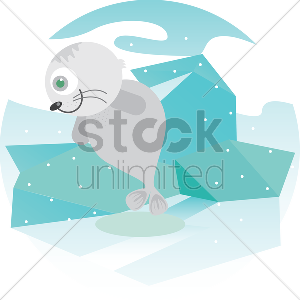 Free a seal vector graphic
