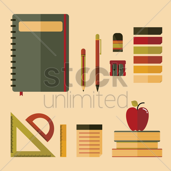 a set of educational icons vector graphic