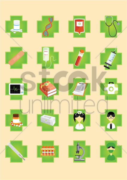 a set of medical icons vector graphic