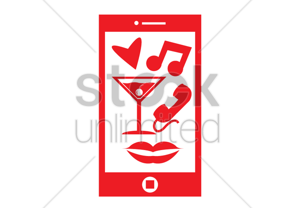 a smartphone vector graphic