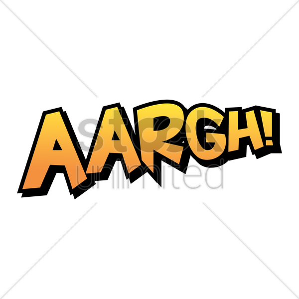 aargh comic speech vector graphic