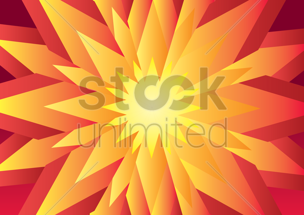 abstract 3d flower background vector graphic
