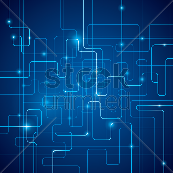 abstract circuit board design vector graphic