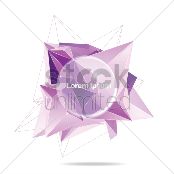 abstract faceted background vector graphic