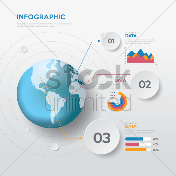 abstract infographic background vector graphic