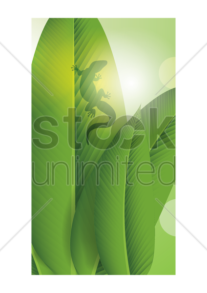 abstract leaves wallpaper vector graphic