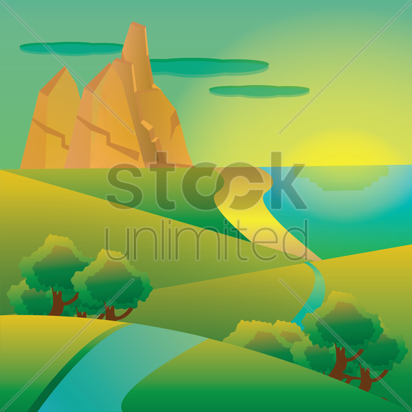abstract nature vector graphic