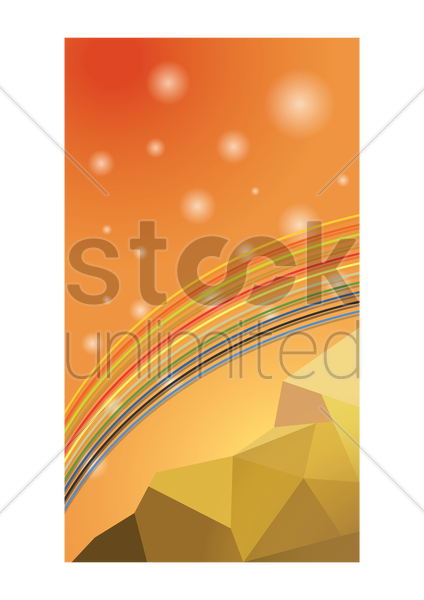 abstract rainbow wallpaper vector graphic