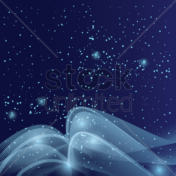 abstract snowfall background vector graphic