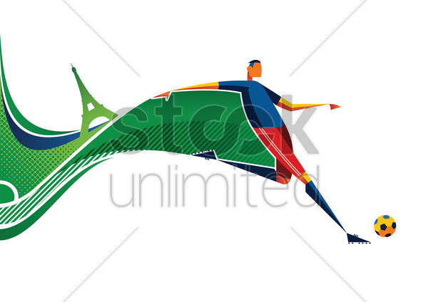 abstract soccer player design vector graphic