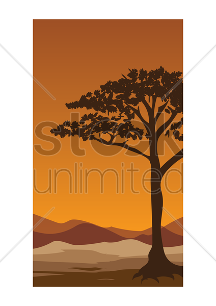 abstract tree wallpaper vector graphic