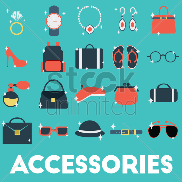 accessories collections vector graphic