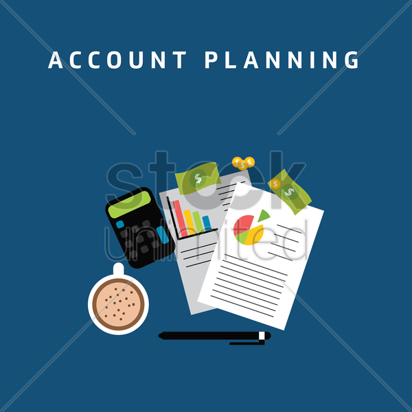 Free account planning vector graphic