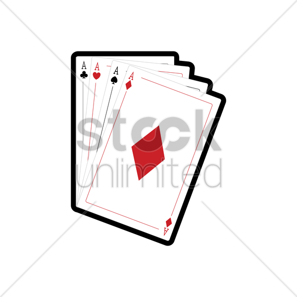 aces of cards vector graphic