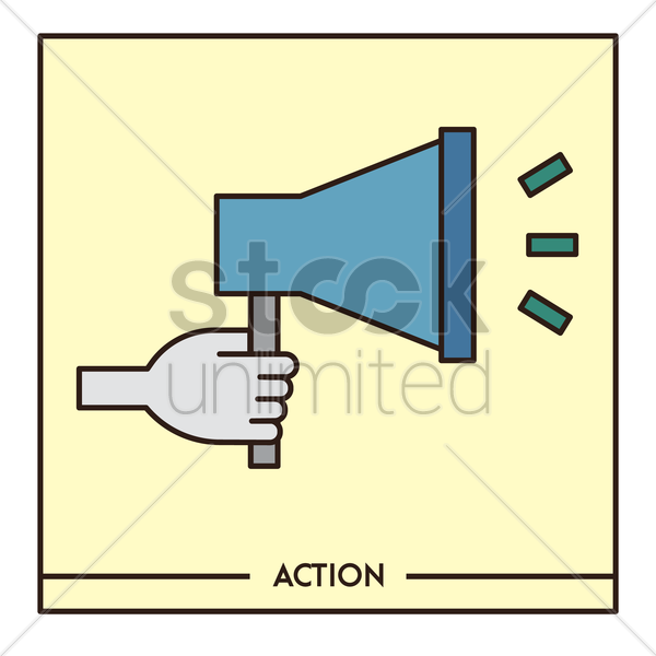 action vector graphic