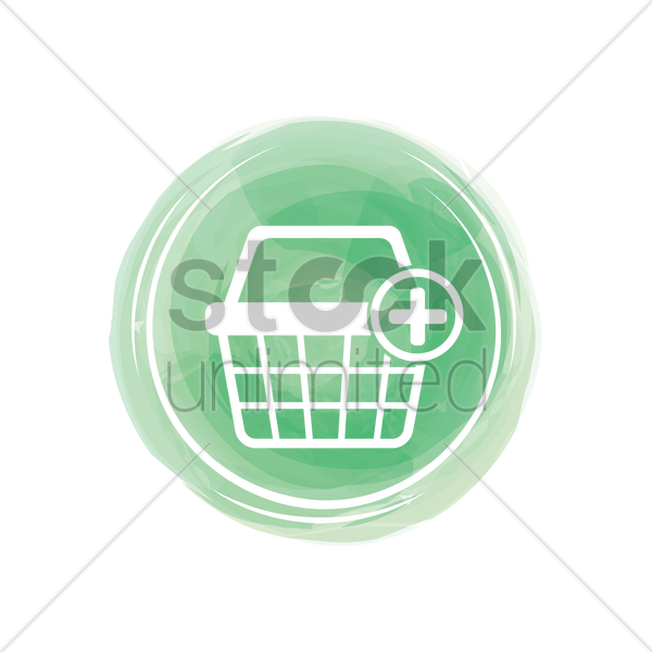 add to cart icon vector graphic