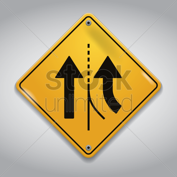 added right lane road sign vector graphic
