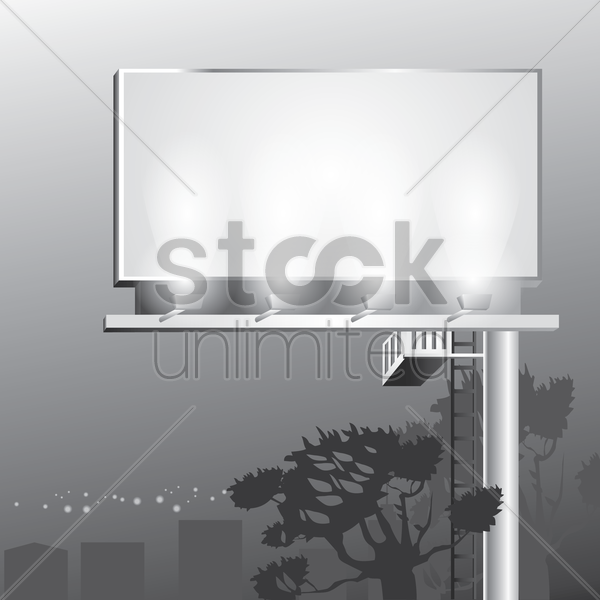 advertising billboard vector graphic