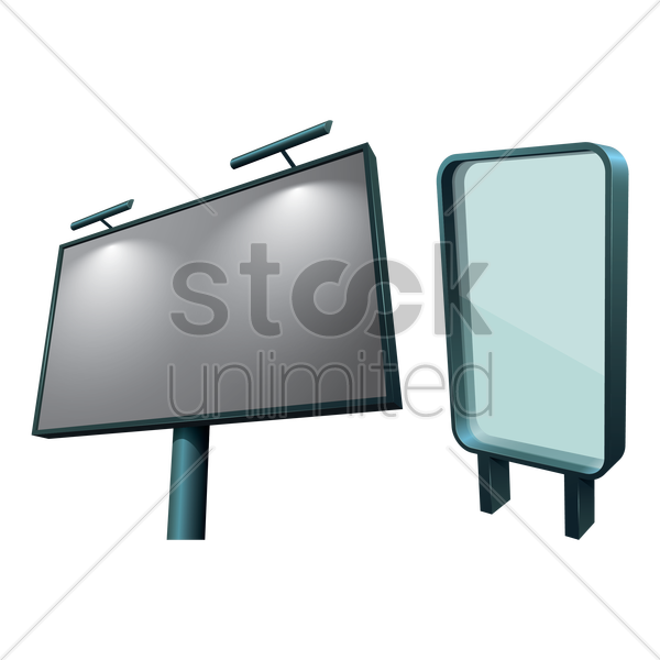 advertising blank billboards vector graphic