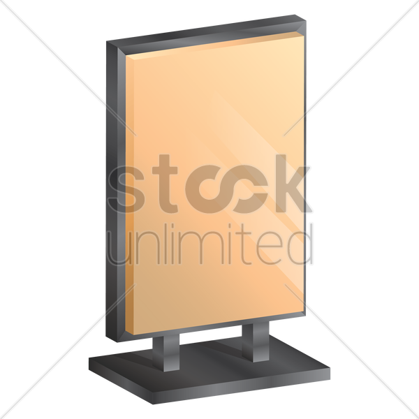 advertising stand vector graphic