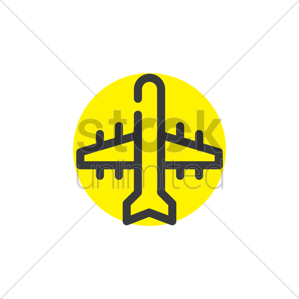 aeroplane icon vector graphic