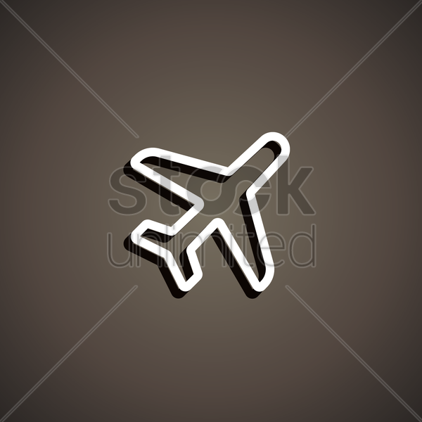 aeroplane mode icon vector graphic