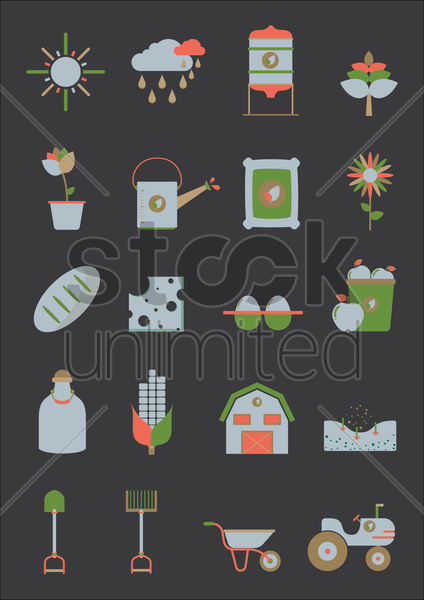 agriculture collection vector graphic