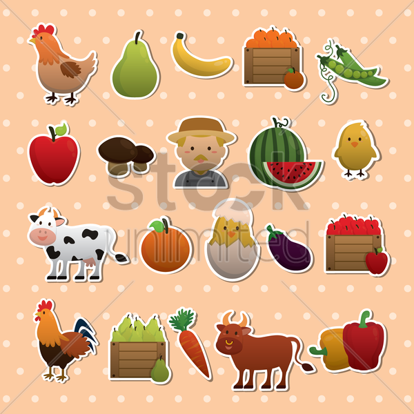 Free agriculture icons vector graphic