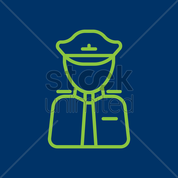 air force officer vector graphic