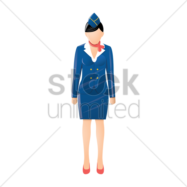air hostess vector graphic